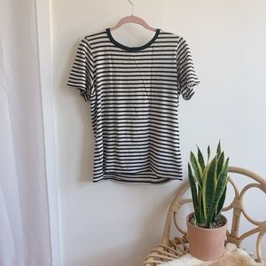 Black and Grey Striped Tee